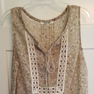 Blouse tank with camisole Sz L